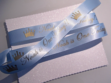 1st Birthday Personalised Ribbon - 5 Metre